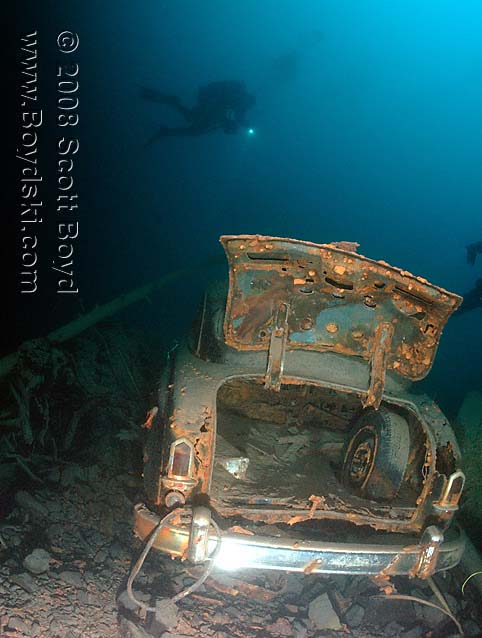 steele dodge  sherman wreck lake crescent dive site review